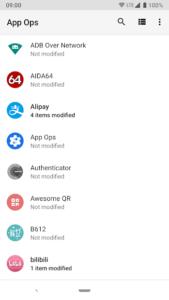 تصویر محیط App Ops – Permission manager v2.6.3