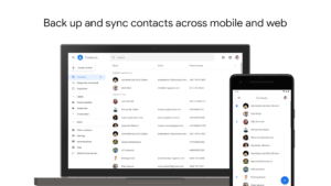 تصویر محیط Google Contacts v3.42.1.365144226