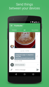 تصویر محیط Pushbullet – SMS on PC and more v18.2.25