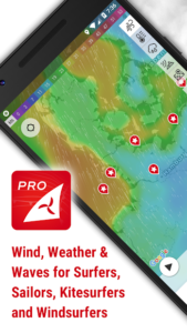 تصویر محیط Windfinder Pro – weather & wind forecast v3.6.3