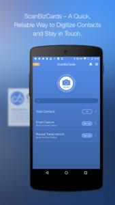 تصویر محیط ScanBizCards Premium v7.0