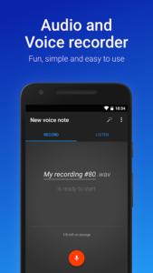 تصویر محیط Easy Voice Recorder Pro v2.7.6 build 282760501