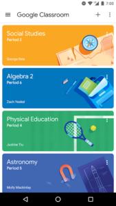 تصویر محیط Google Classroom v5.4.182.05