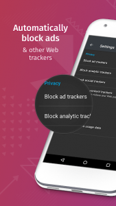 تصویر محیط Firefox Focus: The privacy browser v9.0