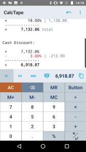 تصویر محیط CalcTape Calculator with Tape v6.0.4