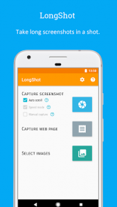 تصویر محیط LongShot for long screenshot v0.99.83