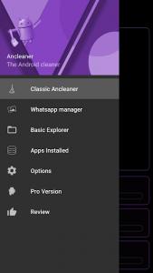 تصویر محیط Ancleaner Pro, Android cleaner v3.38