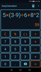تصویر محیط Easy Calculator PRO v1.0.6