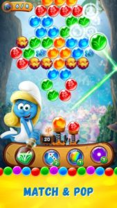 تصویر محیط Smurfs Bubble Story v2.03.17283