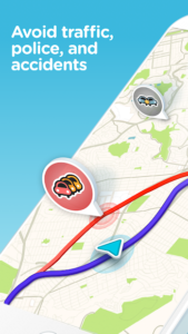 تصویر محیط Waze – GPS, Maps, Traffic Alerts & Live Navigation v4.55.0.1