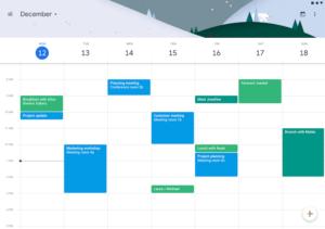 تصویر محیط Google Calendar v6.0.26-238239064