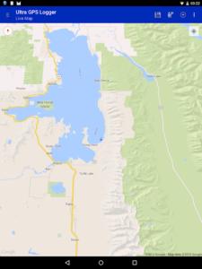 تصویر محیط Ultra GPS Logger v3.158g