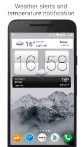 تصویر محیط Sense V2 Flip Clock & Weather v5.42.1