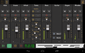 تصویر محیط Audio Evolution Mobile Studio v4.9.3
