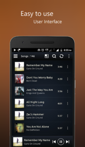 تصویر محیط PowerAudio Pro music player v9.2.0