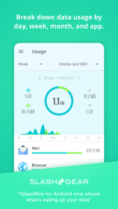 تصویر محیط GlassWire Data Usage Monitor v3.0.354r