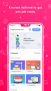 تصویر محیط Programming Hub: Learn to code v5.0.12