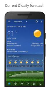 تصویر محیط Sense V2 Flip Clock & Weather v5.21.03