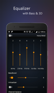 تصویر محیط PowerAudio Pro music player v8.0.6