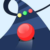 بازی حفظ تعادل توپ راه رنگی آیکون