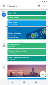 تصویر محیط Google Calendar v6.0.34