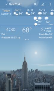 تصویر محیط YoWindow Weather v2.12.18
