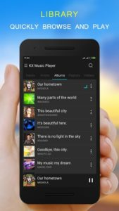 تصویر محیط KX Music Player pro v1.8.2