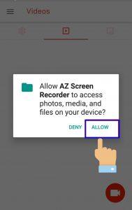 آموزش نرم افزار AZ Screen Recorder