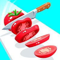 بازی جذاب خرد کردن مواد غذایی آیکون