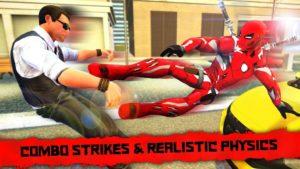 تصویر محیط Superhero Iron Ninja Battle: City Rescue Fight Sim v11